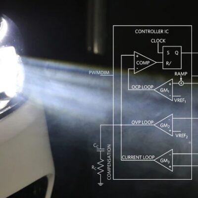 تصویر کنترلر LED خودرو EMI را کاهش می دهد